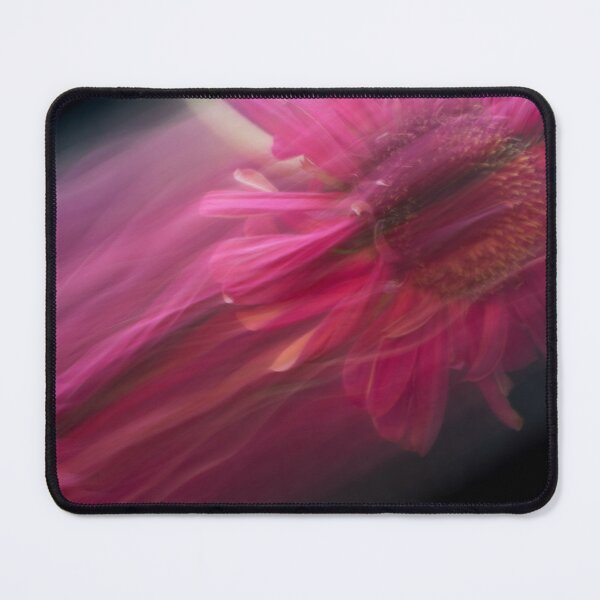 Fleur Blur-Abstract Pink Gerbera Daisy Mouse Pad