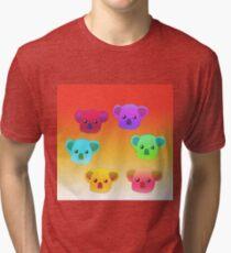 Winter Koalas - Red/Orange Tri-blend T-Shirt