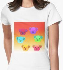 Winter Koalas - Red/Orange Womens Fitted T-Shirt