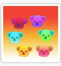 Winter Koalas - Red/Orange Sticker