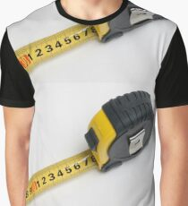 a yellow measuring tape on white background Graphic T-Shirt