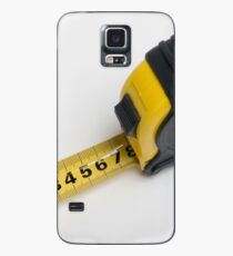 a yellow measuring tape on white background Case/Skin for Samsung Galaxy