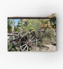 Old West Wagon in the Garden Studio Pouch