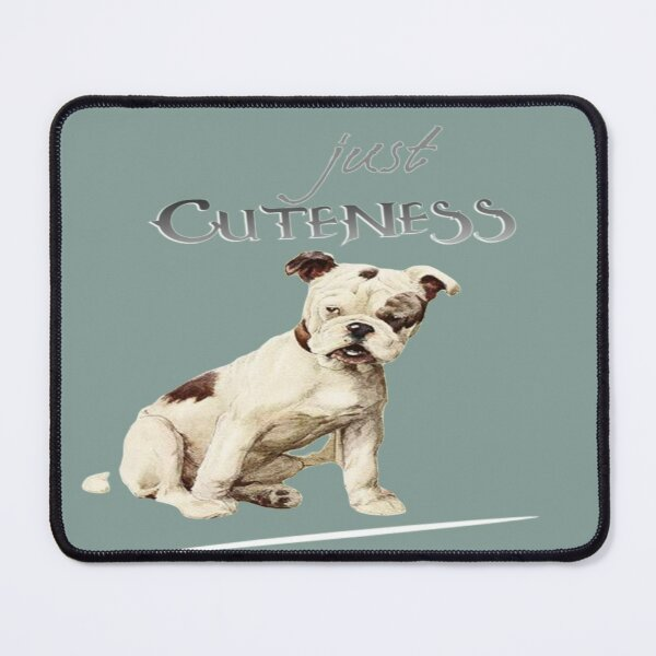 Just Cuteness: Inspired Puppy Admiration Mouse Pad