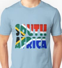 South Africa Font with South African Flag T-Shirt
