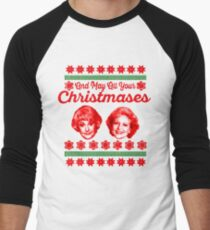 Camiseta ¾ bicolor para hombre Golden Girls Christmas