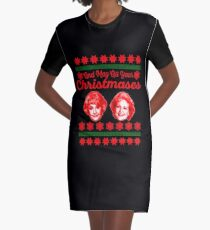 Golden Girls Christmas Graphic T-Shirt Dress
