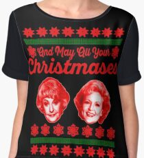 Golden Girls Christmas Chiffon Top