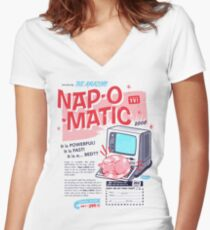 Nap-O-Matic Women's Fitted V-Neck T-Shirt