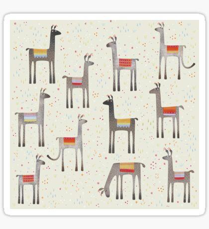 Llamas in the Meadow Sticker