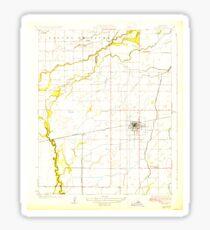 USGS TOPO Map California CA Lemoore 296236 1927 31680 geo Sticker