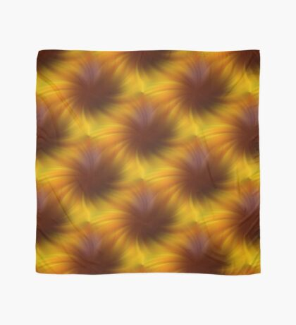 Swirling Yellow And Brown Abstract Pattern Scarf