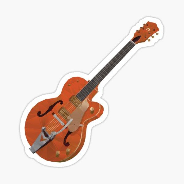 Gretsch Chet Atkins Guitar polygon art Sticker