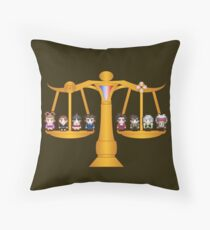 Both Sides Of The Law Throw Pillow