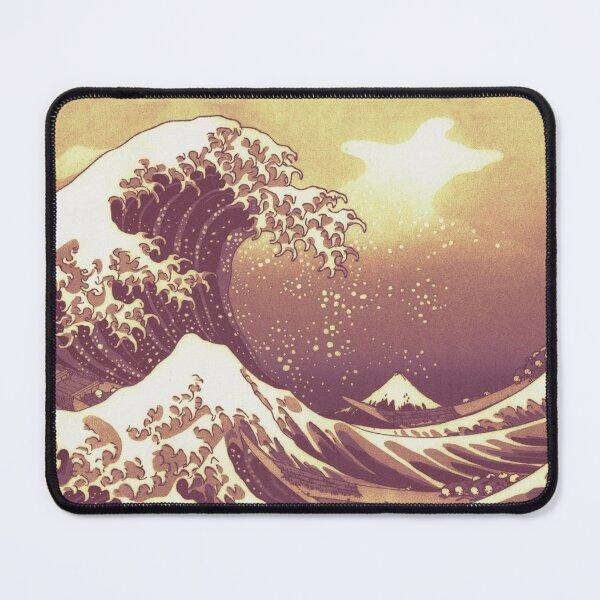 lithograph great wave off kanagawa Mouse Pad