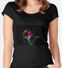 Light Flowers Women's Fitted Scoop T-Shirt