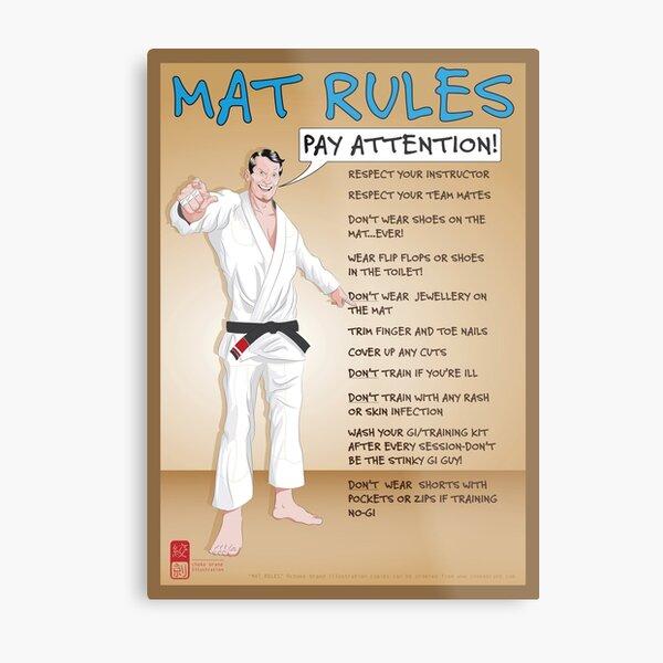 Mat Rules Poster Metal Print