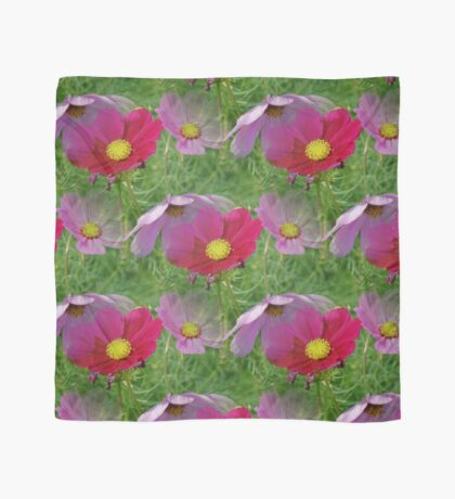 Cosmos Flowers Nature Pattern Scarf