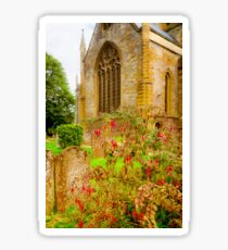 Holy Trinity Church With Flowers & Gravestones Sticker