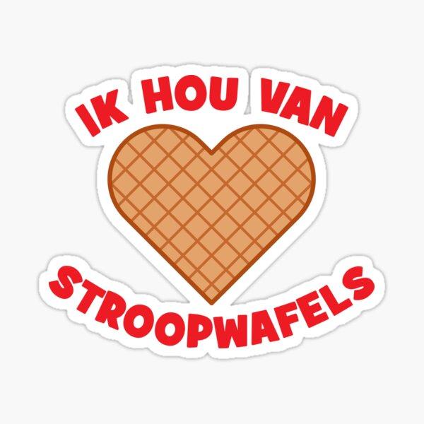 Ik hou van Stroopwafels Sticker