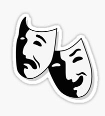 Theater Mask Sticker
