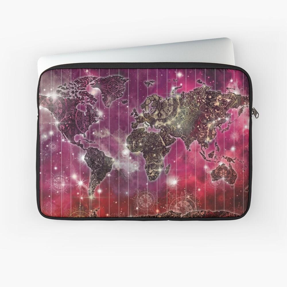 Weltkarte Mandala Raum 2 Laptoptasche