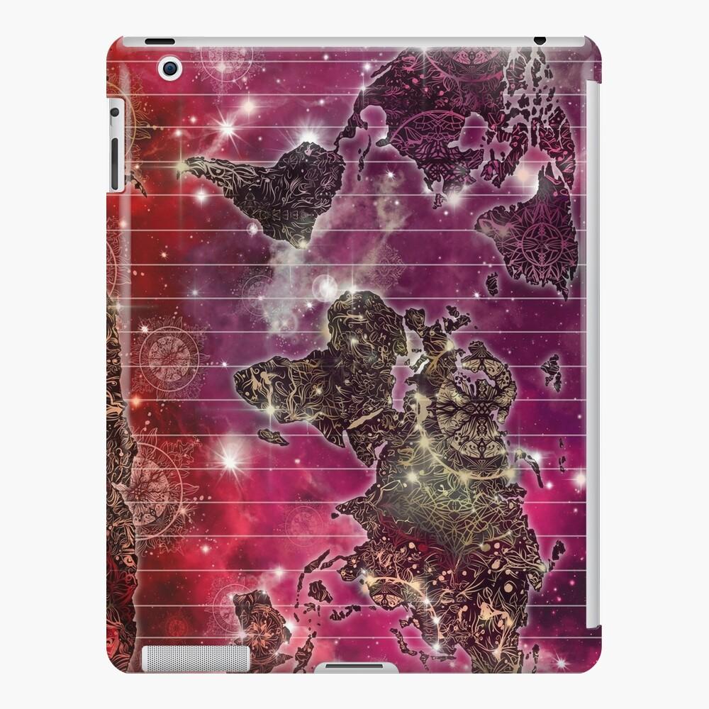 Weltkarte Mandala Raum 2 iPad-Hülle & Skin