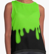 Dripping Green Toxic Slime Contrast Tank