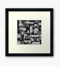 Grey Rectangle Sky - Abstract Framed Print