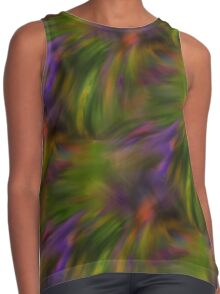 Abstract Colors Of Purple Green Yellow Contrast Tank