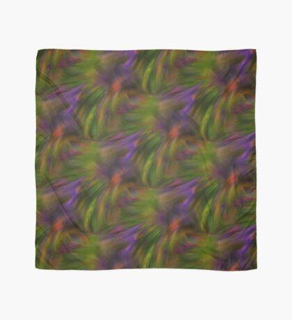 Abstract Colors Of Purple Green Yellow Scarf