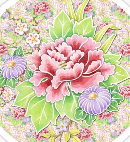 Pink Kimono Bouquet Sticker