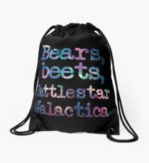 Bears, Beets, Battlestar Galactica Drawstring Bag