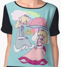 Peach Rosalina and Luma Women's Chiffon Top