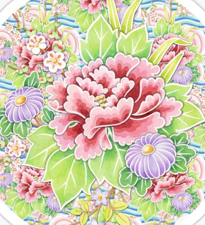 Pastel Kimono Bouquet Sticker