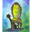 Cute Witch Cat by HAJRA MEEKS
