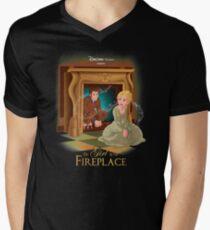 The Girl In The Fireplace Men's V-Neck T-Shirt