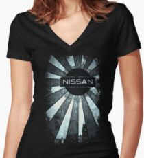Rays of Nissan  Women's Fitted V-Neck T-Shirt