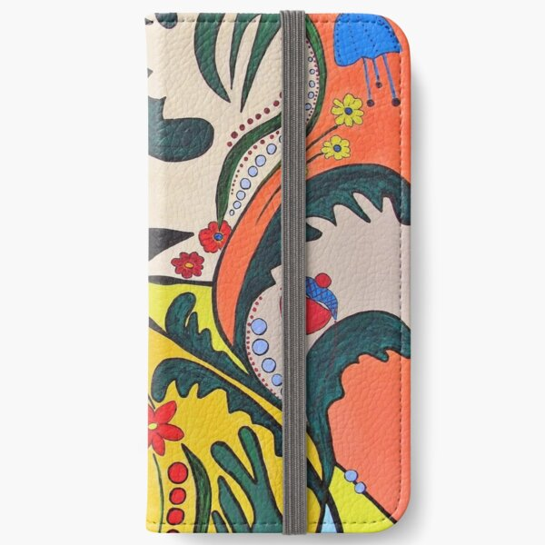 Flower-Kätz iPhone Flip-Case