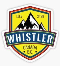 WHISTLER BRITISH COLUMBIA CANADA SKIING SNOWBOARDING MOUNTAINS SKI 4 Sticker