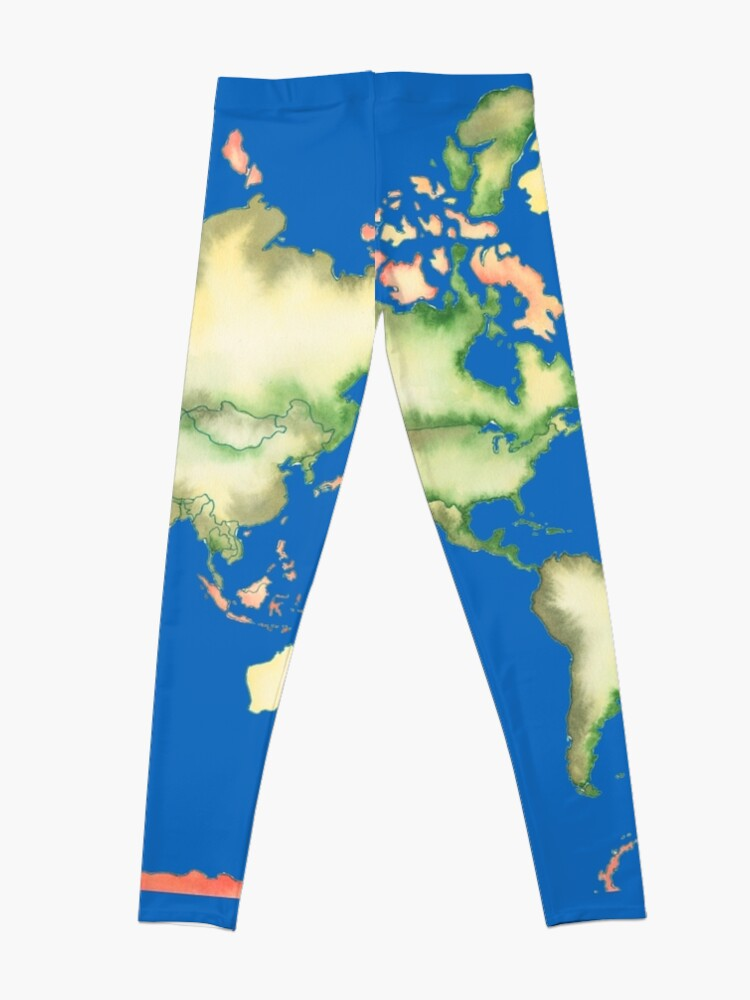 Alternate view of Old World Map in Ink Leggings