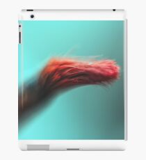 Red macro brush on green background iPad Case/Skin