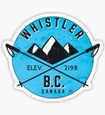 WHISTLER BRITISH COLUMBIA CANADA SKIING SNOWBOARDING MOUNTAINS SKI 5 Sticker