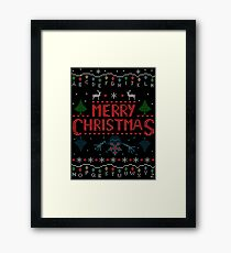 MERRY CHRISTMAS FROM THE UPSIDE DOWN! #2 Framed Print