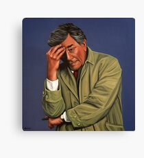 Peter Falk as Columbo Painting Canvas Print