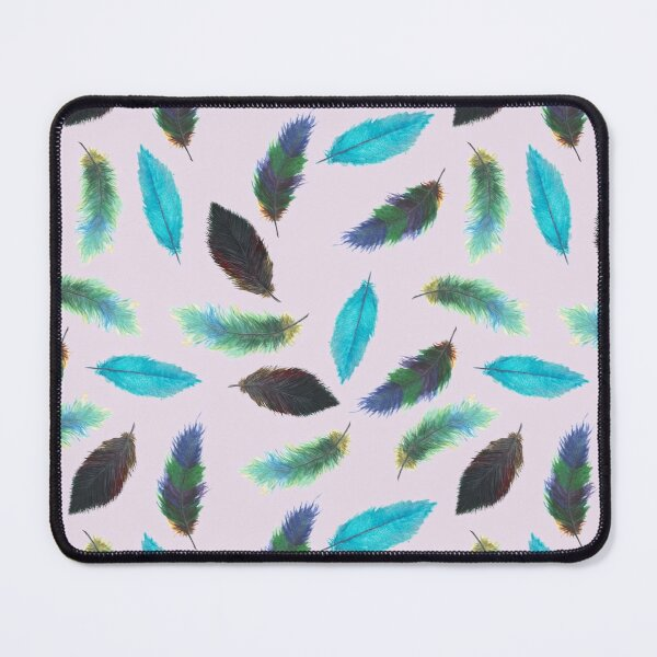 Hope FeaTheRs WateRColor SeaMleSs PatTerN Mouse Pad