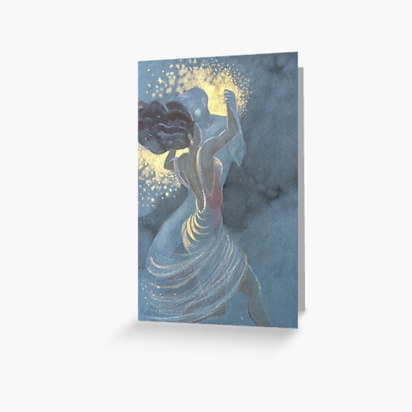 Dancing With An Imaginary Man Greeting Card