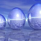 Shiny Metallic Eggs by Jo Newman
