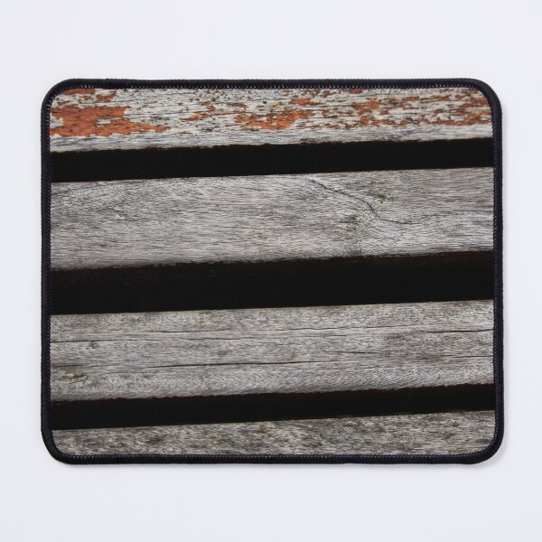 Gray Plank Wood Surface Mouse Pad
