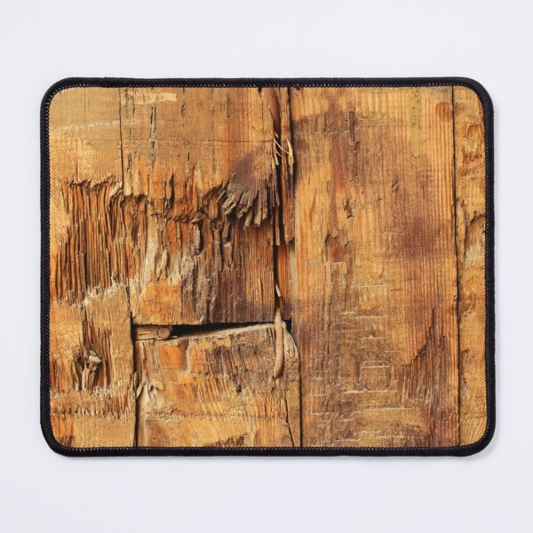 Light Brown Old WooD PlanK Surface Mouse Pad
